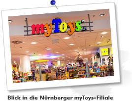 Blick in die Nürnberger myToys-Filiale