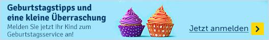 Melden Sie jetzt Ihr Kind zum Geburtstagsservice an