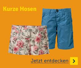 Sommermode kurze Hosen